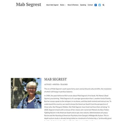 Mab Segrest - Writer, Activist, Teacher - Books by Mab Segrest