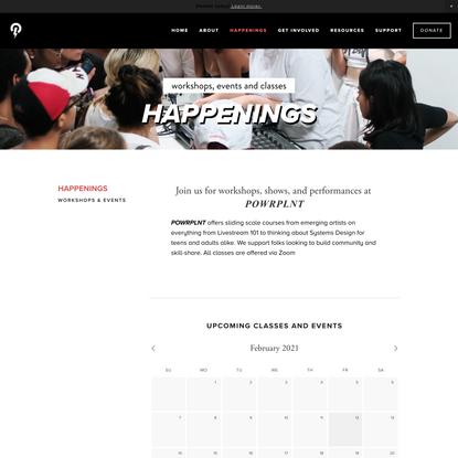Workshops & Events — POWRPLNT