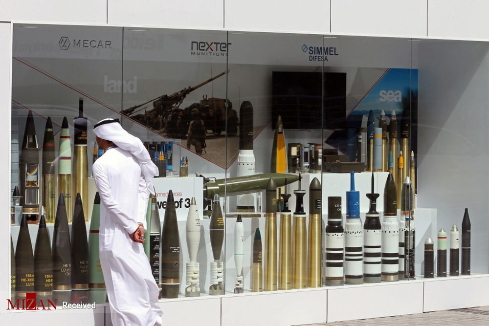 A visitor looks at munitions on display during the International Defence Exhibition and Conference (IDEX) in Abu Dhabi, United Arab Emirates February 19, 2017. REUTERS/Stringer
