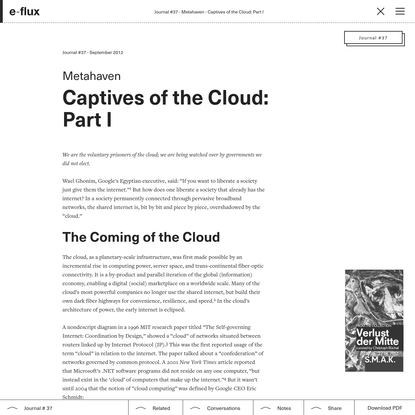 Captives of the Cloud: Part I