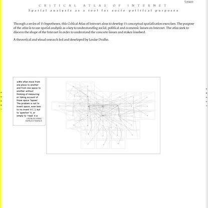 Critical Atlas of Internet