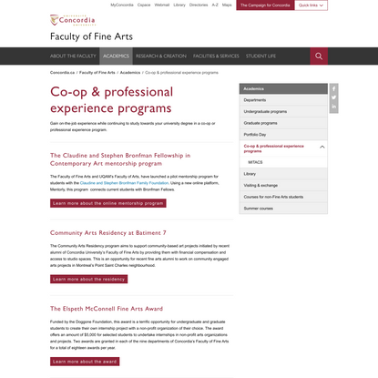 Co-op & professional experience programs