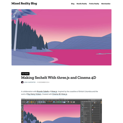 Making Sechelt With three.js and Cinema 4D