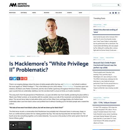 "Is Macklemore's ""White Privilege II"" Problematic?"