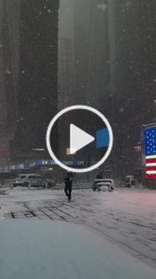 Times Square feels apocalyptic today. #nyc #snowstorm #blizzard #manhattan #timessquare #newyorkcity