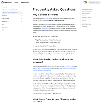 Frequently Asked Questions | Beaker Docs