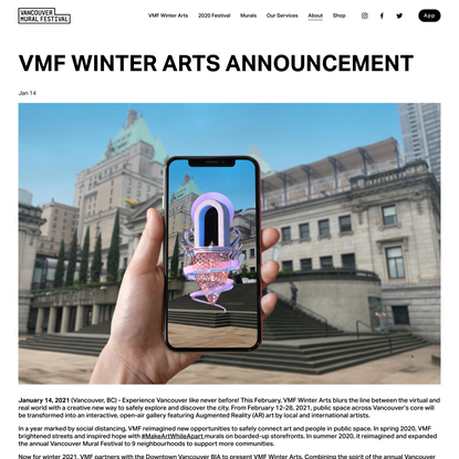VMF WINTER ARTS ANNOUNCEMENT — Vancouver Mural Festival
