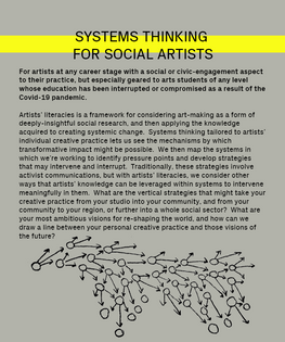 systems thinking for social artists; artists literacy institute