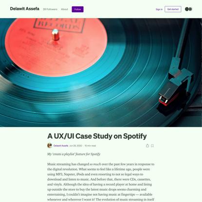 A UX/UI Case Study on Spotify