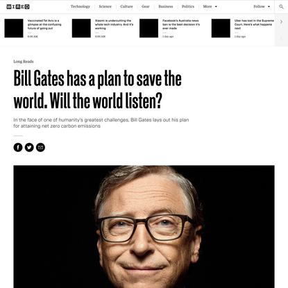 Bill Gates has a plan to save the world. Will the world listen?