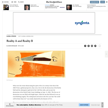 Opinion   Fiction: Reality A and Reality B