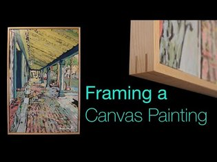 Framing a Canvas Painting