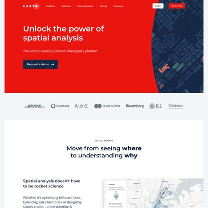 Unlock the power of spatial analysis — CARTO