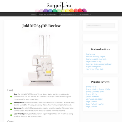 Juki MO654DE Serger Fully Reviewed, tested & Compared