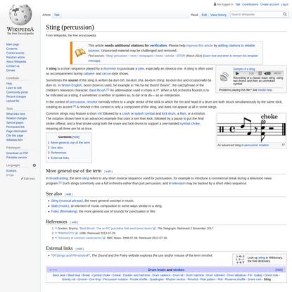 Sting (percussion)