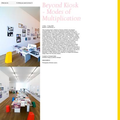Beyond Kiosk - Modes of Multiplication by Martino Gamper