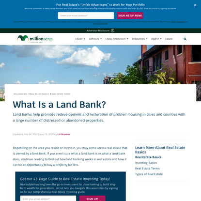 What Is a Land Bank?
