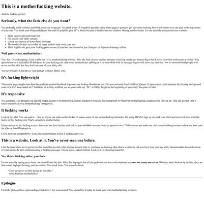 Motherfucking Website