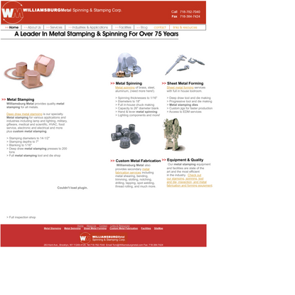 Williamsburg Metal Spinning & Stamping Corp., Metal Stamping, Metal Spinning, Deep Draw, Small To Medium Runs, Metal Fabrica...