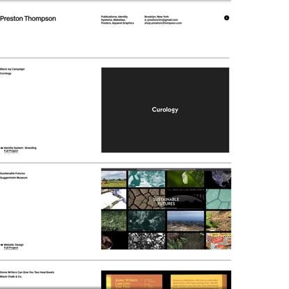 Preston Thompson Graphic Design