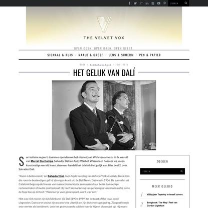 Het gelijk van Dalí.