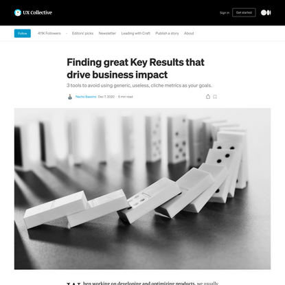 Finding great Key Results that drive business impact