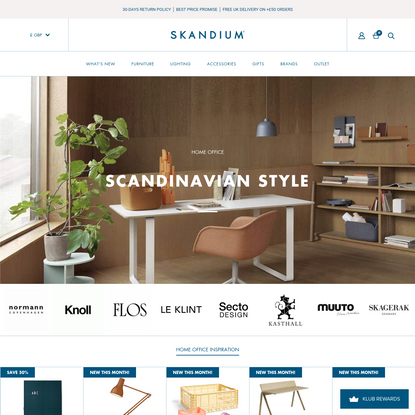 Scandinavian Interior Design Furniture & Gifts from Skandium - SKANDIUM