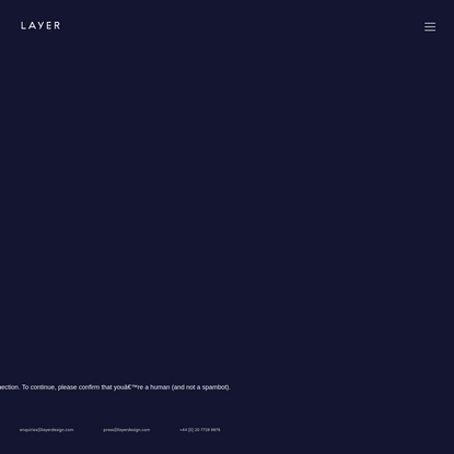 LAYER - Industrial Design | Strategic Design | London