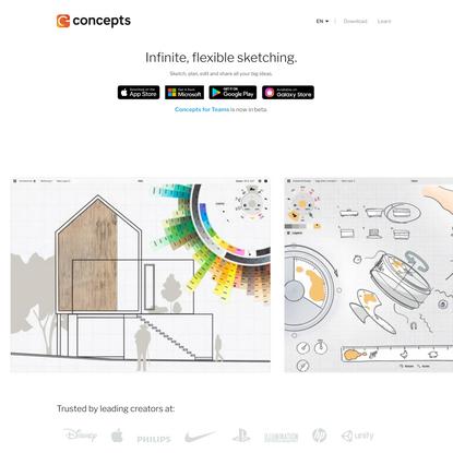 Concepts App • Infinite, Flexible Sketching