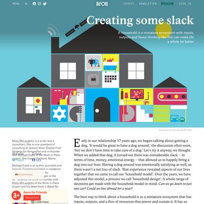 Households are mini-economies that need slack to be productive – Misty McLaughlin & Michael Erard | Aeon Essays