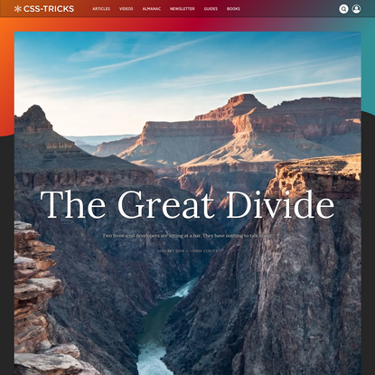 The Great Divide   CSS-Tricks