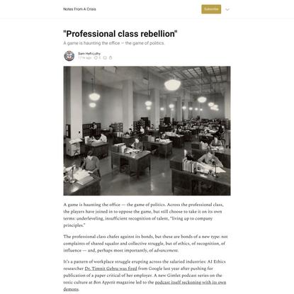 """Professional class rebellion"""