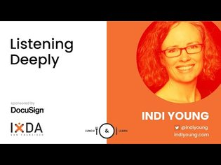 IxDA SF with Indi Young. Listening Deeply