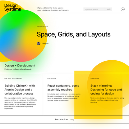 Design Systems articles on building and maintaining design systems