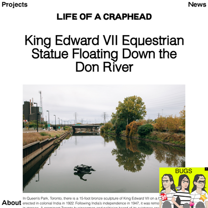 King Edward VII Equestrian Statue Floating Down the Don River   Life of a Craphead