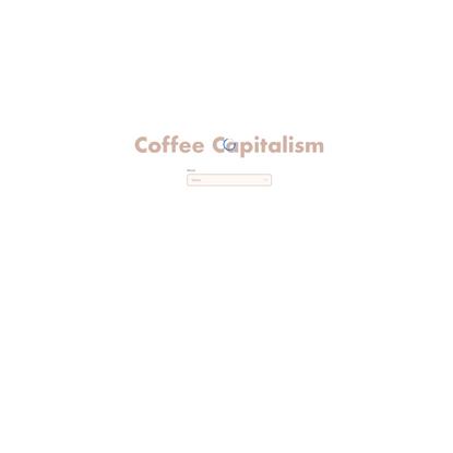 Track - Coffee capitalism
