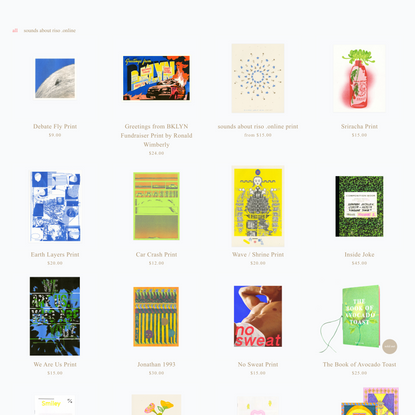 online store — lucky risograph