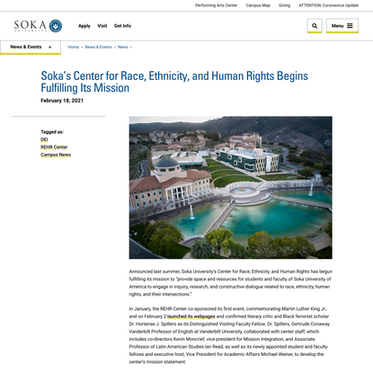 Soka's Center for Race, Ethnicity, and Human Rights Begins Fulfilling Its Mission | Soka University of America