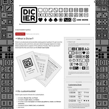 Typeface: Dicier by Speak the Sky