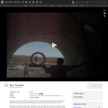 Sun Tunnels : Darin Christensen : Free Download, Borrow, and Streaming : Internet Archive