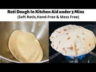 How to make Roti/chapati Dough using Kitchen Aid Stand Mixer( Guaranteed softest Rotis) |Rotli Dough
