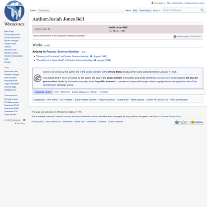 Josiah Jones Bell - Wikisource, the free online library