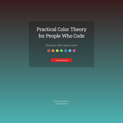 Practical Color Theory for People Who Code