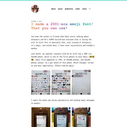 I made a 2001-era emoji font! That you can use! – Monica Dinculescu