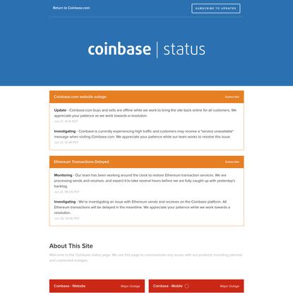 Coinbase Status