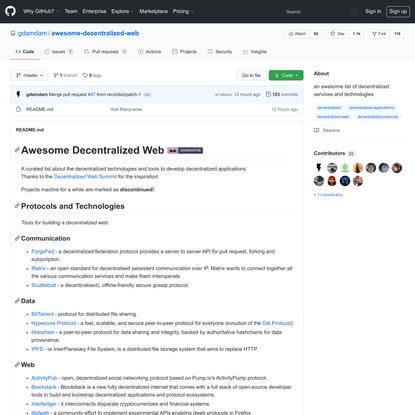gdamdam/awesome-decentralized-web