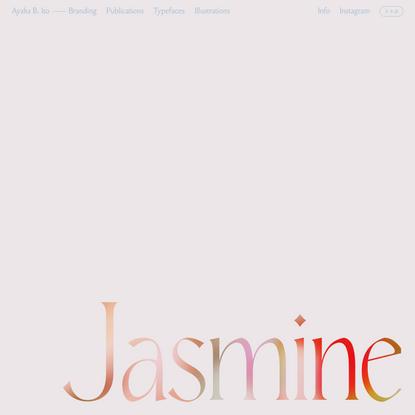 Jasmine Display – Ayaka B. Ito
