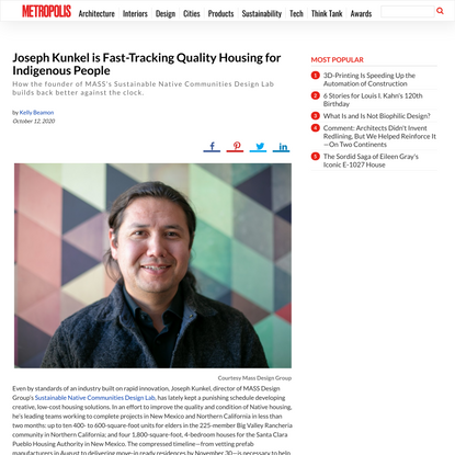 Architect Joseph Kunkel is Fast-Tracking Quality, Indigenous Housing