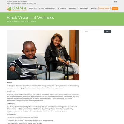 Black Visions of Wellness – UMMA Community Clinic