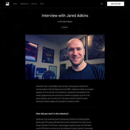 Interview with Jared Adkins | Interface In Game